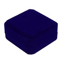 Baumwollsamt Armbandkasten, mit Kleber Film, Quadrat, blau, 91x91x44mm, 24PCs/Menge, verkauft von Menge