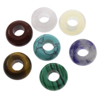 European Stil Edelsteinperlen, Edelstein, Rondell, großes Loch, 10x5mm, Bohrung:ca. 4mm, 5PCs/Tasche, verkauft von Tasche