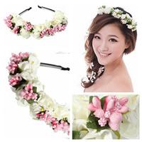 Braut Haarband, Seidenspinnerei, mit PVC-Schaum, Blume, für Braut, 130mm, 5PCs/Tasche, verkauft von Tasche