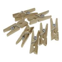 Holz Clip, mit Zinklegierung, Platinfarbe platiniert, verschiedene Größen vorhanden, 1000PCs/Tasche, verkauft von Tasche
