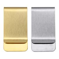 Mode-Geld-Clip, Edelstahl, plattiert, gebürstet, keine, 26x50x7mm, verkauft von PC
