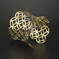 Eisen Armreif, goldfarben plattiert, frei von Blei & Kadmium, 65x58mm, Innendurchmesser:ca. 65mm, Länge:ca. 7.5 ZollInch, 3PCs/Tasche, verkauft von Tasche