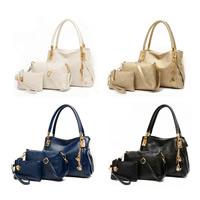 Moderne Handtasche, PU Leder, mit Eisen, goldfarben plattiert, keine, 170x110x20mm, 230x160x60mm, 330x240x130mm, 3PCs/setzen, verkauft von setzen