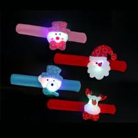 Baumwollsamt Weihnachten Schlag Armband, mit Plüsch & Eisen, für Kinder & Weihnachtsschmuck & verschiedene Stile für Wahl & LED, 30mm, Länge:ca. 8.2 ZollInch, 10PCs/Tasche, verkauft von Tasche