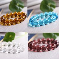 Kristall Armbänder, rund, verschiedene Größen vorhanden, mehrere Farben vorhanden, verkauft per ca. 7 ZollInch Strang