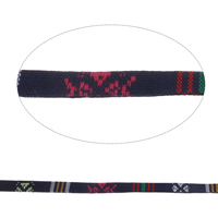 Ethnische Baumwollschnur, Leinen- Baumwolle, 10x2mm, 50m/Tasche, verkauft von Tasche