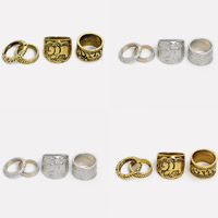 Zinklegierung Ring Set, plattiert, keine, frei von Blei & Kadmium, 15-20mm, Größe:4-8, 4PCs/setzen, verkauft von setzen