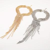 Mode-Fringe-Halskette, Zinklegierung, mit Verlängerungskettchen von 2.8lnch, plattiert, für Frau & mit Strass, keine, frei von Nickel, Blei & Kadmium, 57x270mm, verkauft per ca. 15.7 ZollInch Strang