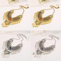Acryl Halskette, Zinklegierung, mit Acryl, mit Verlängerungskettchen von 2lnch, plattiert, Twist oval & für Frau & mit Strass, keine, frei von Nickel, Blei & Kadmium, verkauft per ca. 17.7 ZollInch Strang