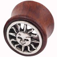 Art und Weise Piercing Tunnel, Edelstahl, mit Holz, Rondell, verschiedene Größen vorhanden & Schwärzen, verkauft von PC