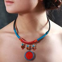 Gewachste Hanfschnur Halskette, mit Rudraksha, flache Runde, farbenfroh, 40cm, verkauft per ca. 15.5 ZollInch Strang