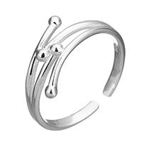925 Sterling Silber Manschette Fingerring, für Frau, 7mm, Größe:7, verkauft von PC