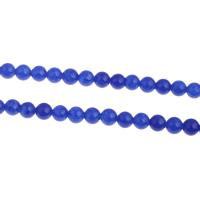 Natürliche blaue Achat Perlen, Blauer Achat, rund, verschiedene Größen vorhanden, Grade AAAAAA, Bohrung:ca. 1mm, verkauft per ca. 15.5 ZollInch Strang