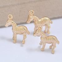 24K Gold Anhänger, Messing, Pferd, 24 K vergoldet, frei von Blei & Kadmium, 16x18mm, Bohrung:ca. 1-2mm, 20PCs/Tasche, verkauft von Tasche