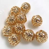 24K Gold Perlen, Messing, Trommel, 24 K vergoldet, hohl, frei von Blei & Kadmium, 10x8mm, Bohrung:ca. 4.5mm, 20PCs/Tasche, verkauft von Tasche