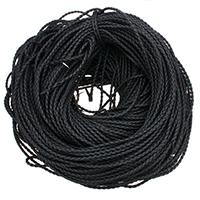 PU Leder Schnur, Imitation Ziegenleder Haut & geflochten & verschiedene Größen vorhanden, schwarz, 100WerftenHof/PC, verkauft von PC