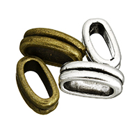Zinklegierung Endkappe, plattiert, keine, frei von Nickel, Blei & Kadmium, 5x14x7.50mm, Bohrung:ca. 4x10.6mm, 200PCs/Menge, verkauft von Menge