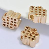 24K Gold Perlen, Messing, Chinesischer Knoten, 24 K vergoldet, frei von Blei & Kadmium, 15x11.50x5mm, Bohrung:ca. 2.5mm, 20PCs/Tasche, verkauft von Tasche