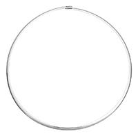 Kragen Halskette, Edelstahl, für Frau, originale Farbe, 4x2mm, Innendurchmesser:ca. 133x145mm, Länge:ca. 18 ZollInch, verkauft von PC