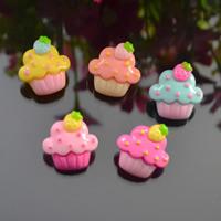 Handy DIY Kit, Harz, Kuchen, gemischte Farben, 20x22mm, 50PCs/Tasche, verkauft von Tasche