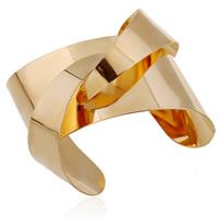 Eisen Armreif, goldfarben plattiert, frei von Blei & Kadmium, 45mm, Innendurchmesser:ca. 60mm, Länge:ca. 7 ZollInch, verkauft von PC