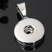 Chunk-Button-Weissgold, Zinklegierung, Platinfarbe platiniert, frei von Blei & Kadmium, 18mm, Bohrung:ca. 3-5mm, Innendurchmesser:ca. 6mm, verkauft von PC