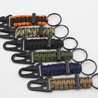 Paracord Karabiner mit Schlüsselringen, mit Eisen Ring & Kunststoff, keine, 130mm, 20PCs/Tasche, verkauft von Tasche