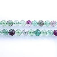 Fluorit Perlen, grüner Fluorit, rund, natürlich, verschiedene Größen vorhanden, Bohrung:ca. 0.7-1mm, verkauft per ca. 15 ZollInch Strang
