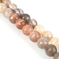 Mondstein Perlen, rund, verschiedene Größen vorhanden & facettierte, Grade A, verkauft per ca. 15 ZollInch Strang