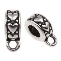316 Edelstahl Stiftöse Perlen, Schwärzen, 5x12mm, Bohrung:ca. 1.5mm, 5mm, verkauft von PC