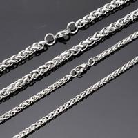 Halskette, Edelstahl, Weizen Kette & verschiedene Größen vorhanden, originale Farbe, frei von Nickel, Blei & Kadmium, verkauft von Strang