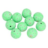 Polymer Ton Perlen , rund, handgemacht, 14mm, Bohrung:ca. 1mm, 10PCs/Tasche, verkauft von Tasche