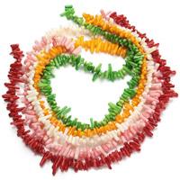 Natürliche Korallen Perlen, Klumpen, keine, 5-15mm, Bohrung:ca. 1mm, ca. 100PCs/Strang, verkauft per ca. 15.5 ZollInch Strang