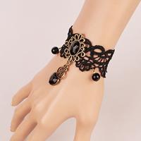 Gothic Armband, Spitze, mit Kristall & Glas & Zinklegierung, mit Verlängerungskettchen von 2.7lnch, plattiert, für Frau & facettierte, frei von Nickel, Blei & Kadmium, verkauft per ca. 5.5 ZollInch Strang