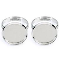 Messing Ringschiene, flache Runde, Platinfarbe platiniert, olika innerdiameter, för val, frei von Nickel, Blei & Kadmium, 12-22mm, 10PCs/Tasche, verkauft von Tasche