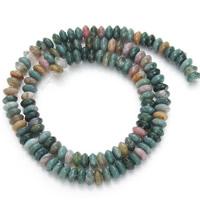 Natürliche Indian Achat Perlen, Indischer Achat, flache Runde, 3x6mm, Bohrung:ca. 1mm, ca. 130PCs/Strang, verkauft per ca. 15.5 ZollInch Strang