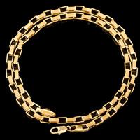 Messingkette Halskette, Messing, 18 K vergoldet, unisex & Rechteck-Kette, frei von Blei & Kadmium, 3mm, verkauft per ca. 21.5 ZollInch Strang