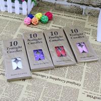 Paraffin Kerzen, gemischte Farben, 35mm, 10BoxenFeld/Tasche, 10PCs/Box, verkauft von Tasche