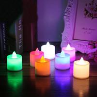 Nachtlampe, Kunststoff, Kerze, LED, 37x45mm, 24PCs/Tasche, verkauft von Tasche