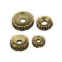 Messing Zwischenperlen, flache Runde, antike Bronzefarbe plattiert, verschiedene Größen vorhanden, frei von Nickel, Blei & Kadmium, 100PCs/Menge, verkauft von Menge