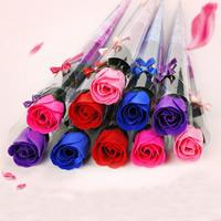 PE Schaumstoff Seife, mit Kunststoff, Blume, gemischte Farben, 35cm, 20PCs/Tasche, verkauft von Tasche