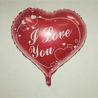 Alufolie Luftballon, Herz, rot, 45cm, 10PCs/Tasche, verkauft von Tasche
