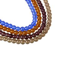 Runde Kristallperlen, Kristall, mehrere Farben vorhanden, 6mm, Bohrung:ca. 1mm, Länge:ca. 10.5 ZollInch, 10SträngeStrang/Tasche, ca. 55PCs/Strang, verkauft von Tasche