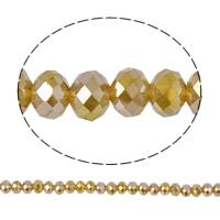 Rondell Kristallperlen, Kristall, facettierte, Gold Champagner, 8x6mm, Bohrung:ca. 1mm, Länge:ca. 16.5 ZollInch, 10SträngeStrang/Tasche, ca. 70PCs/Strang, verkauft von Tasche