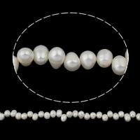 Lagerluft Süßwasser Perlen, Natürliche kultivierte Süßwasserperlen, Reis, natürlich, weiß, 10-11mm, Bohrung:ca. 0.8mm, verkauft per ca. 14.5 ZollInch Strang