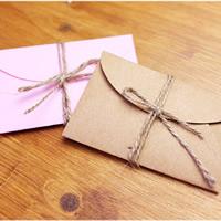 Papier Umschlag, gemischte Farben, 90x58mm, 20PCs/Tasche, verkauft von Tasche