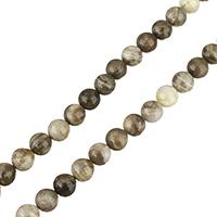 Silberblattjaspis Perle, rund, verschiedene Größen vorhanden, verkauft per ca. 15 ZollInch Strang