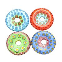 Lampwork Perlen European Stil, gemischt, 25x25x4mm, Bohrung:ca. 5.5mm, 5Taschen/Menge, 10PCs/Tasche, verkauft von Menge