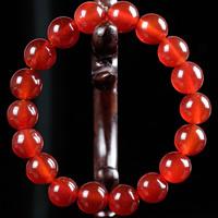 Roter Achat Armbänder, rund, natürlich, verschiedene Größen vorhanden & für Frau, verkauft per ca. 6.5 ZollInch Strang