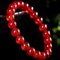 Roter Achat Armbänder, rund, natürlich, für Frau, 8mm, Länge:ca. 6.5 ZollInch, 2SträngeStrang/Tasche, verkauft von Tasche